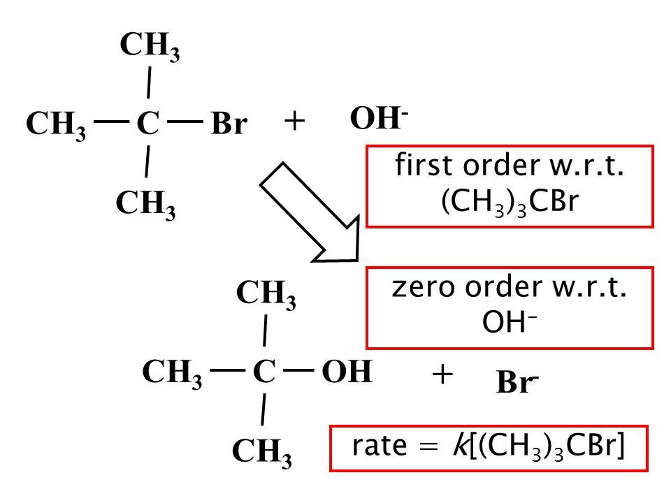 first order w.r.t. (CH3)3CBr