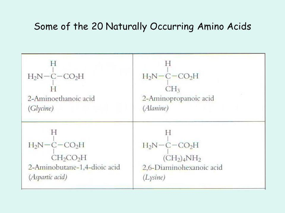 Some of the 20 Naturally Occurring Amino Acids
