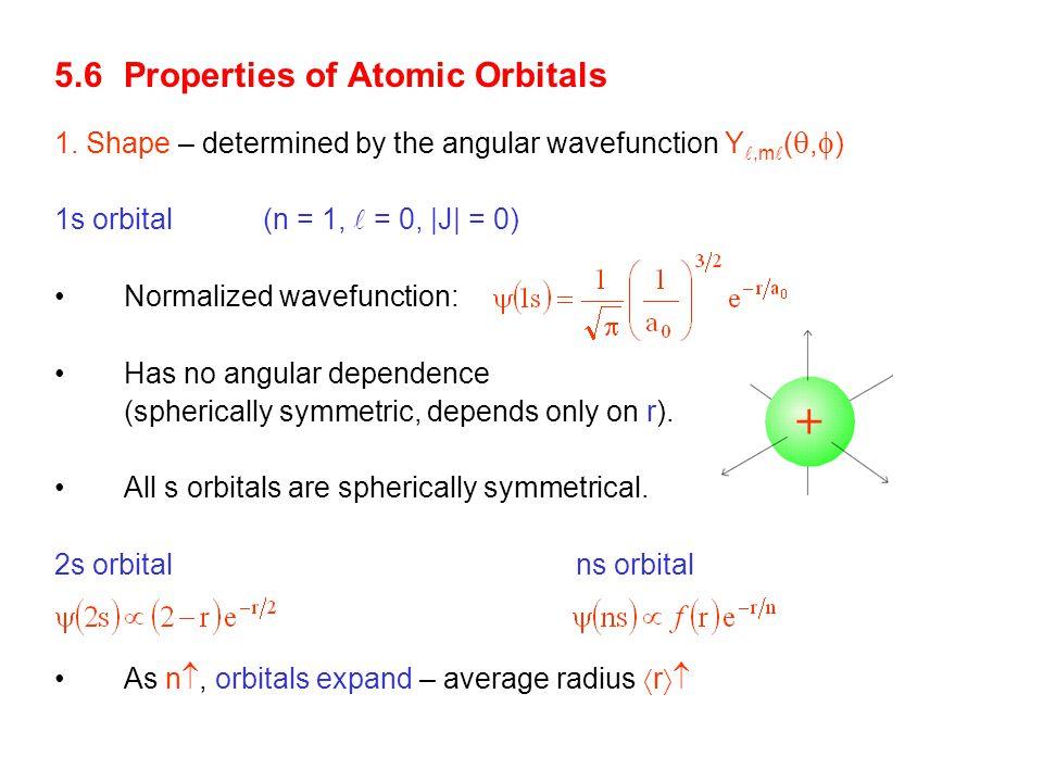 + 5.6 Properties of Atomic Orbitals