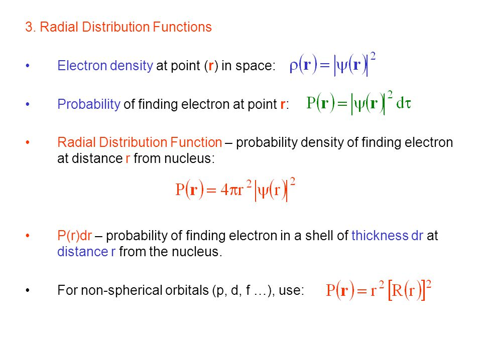 3. Radial Distribution Functions