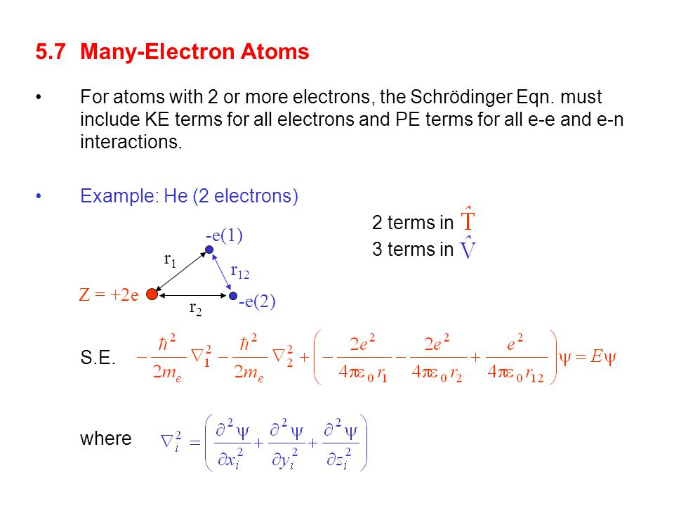 5.7 Many-Electron Atoms