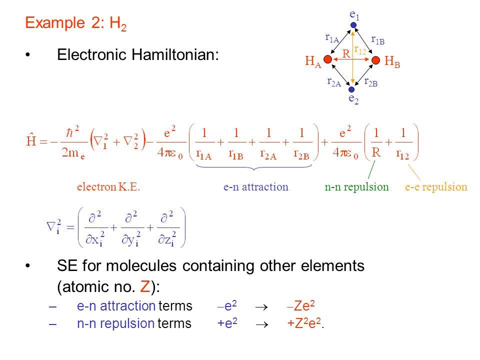 Electronic Hamiltonian: