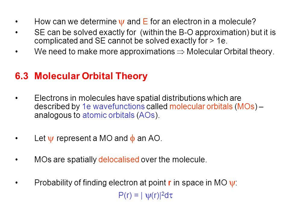 6.3 Molecular Orbital Theory