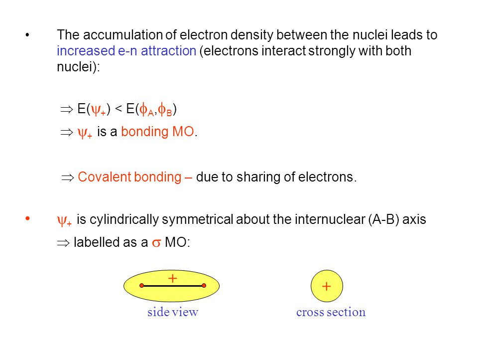  Covalent bonding – due to sharing of electrons.