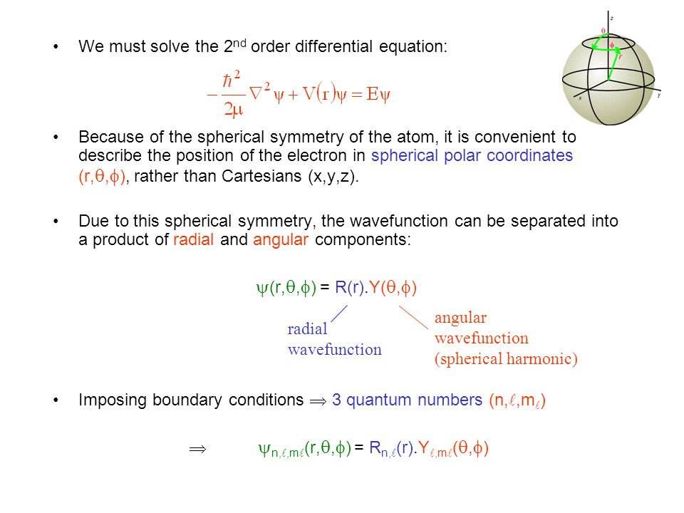 We must solve the 2nd order differential equation: