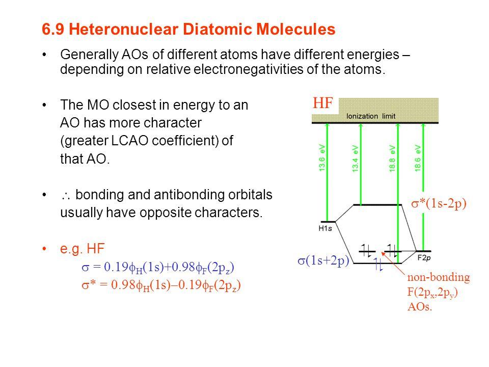 6.9 Heteronuclear Diatomic Molecules