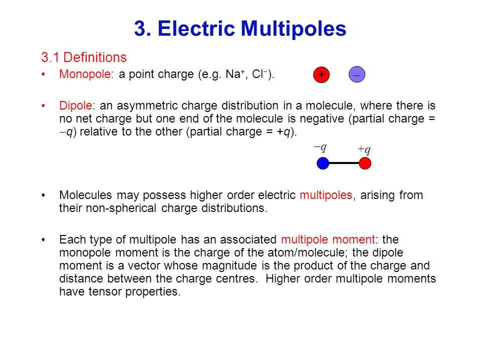 3. Electric Multipoles 3.1 Definitions + 