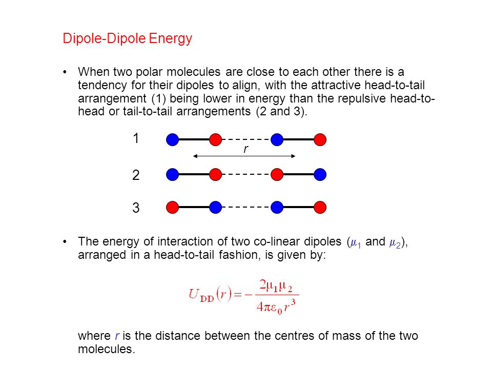 Dipole-Dipole Energy