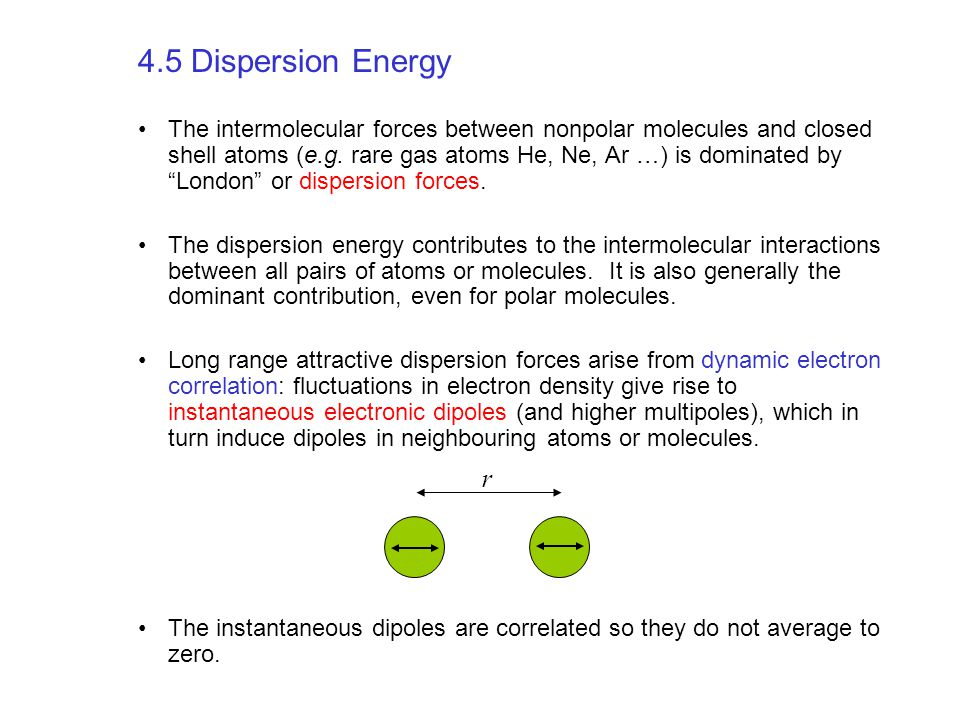 4.5 Dispersion Energy