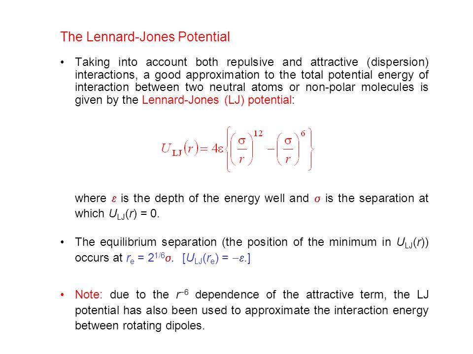 The Lennard-Jones Potential