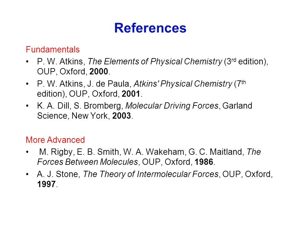 References Fundamentals