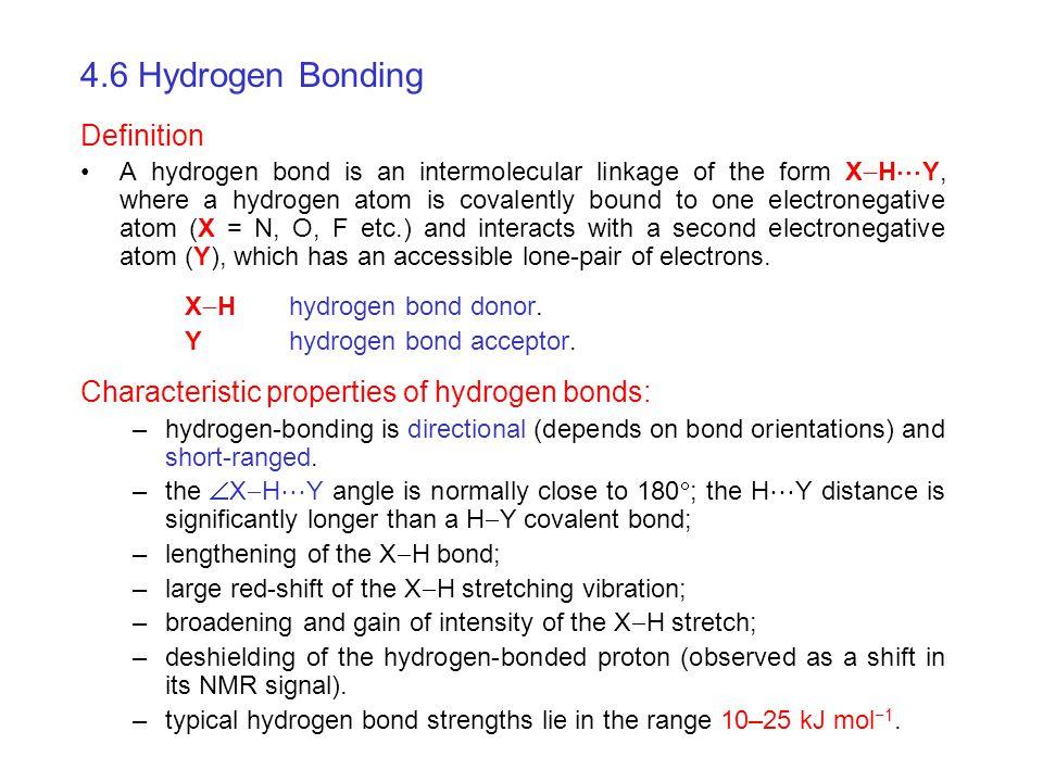 4.6 Hydrogen Bonding Definition