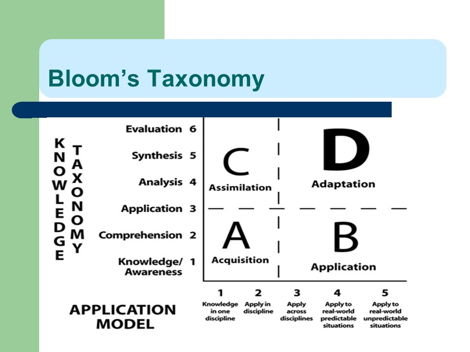 Bloom's Taxonomy 75