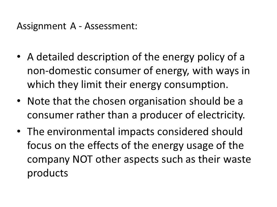 Assignment A - Assessment:
