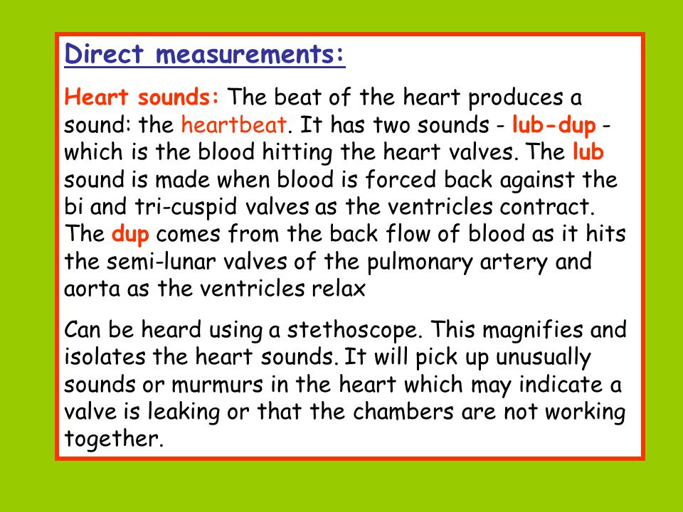 Direct measurements: