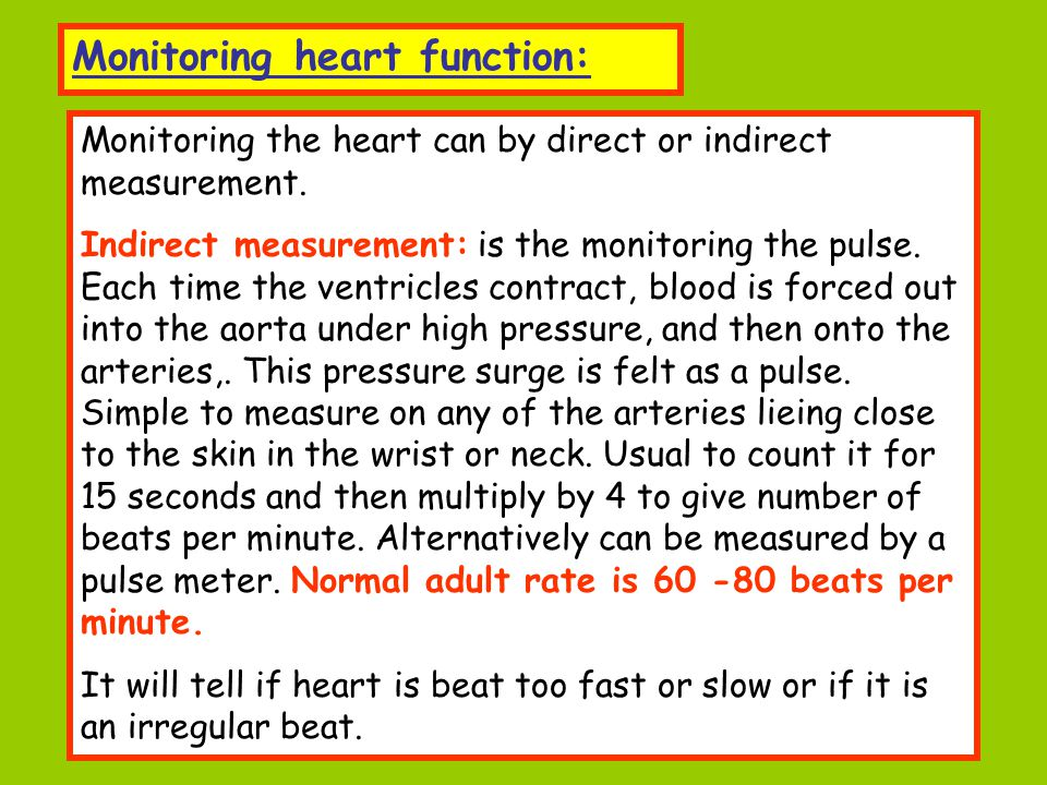 Monitoring heart function: