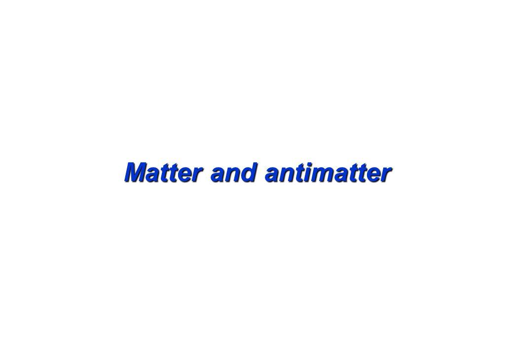 Matter and antimatter