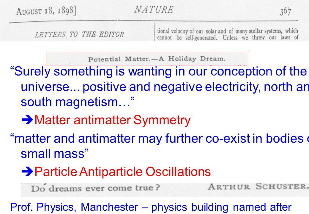 Matter antimatter Symmetry