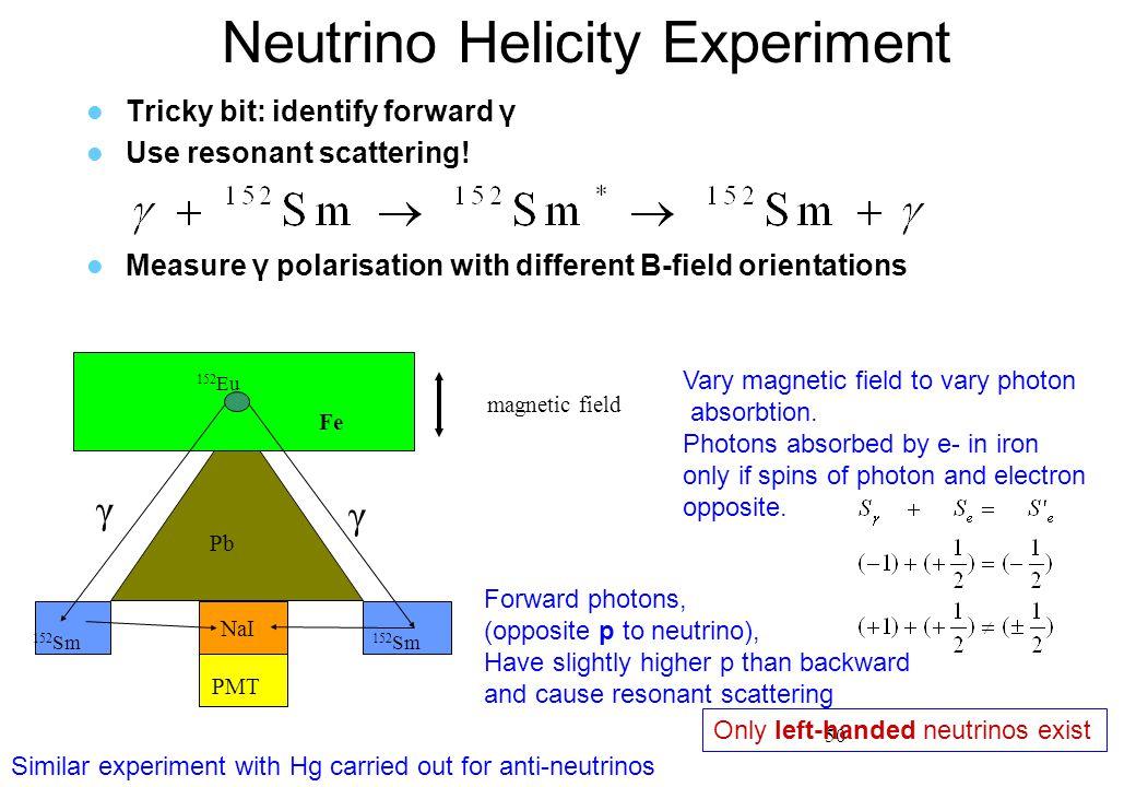 Neutrino Helicity Experiment
