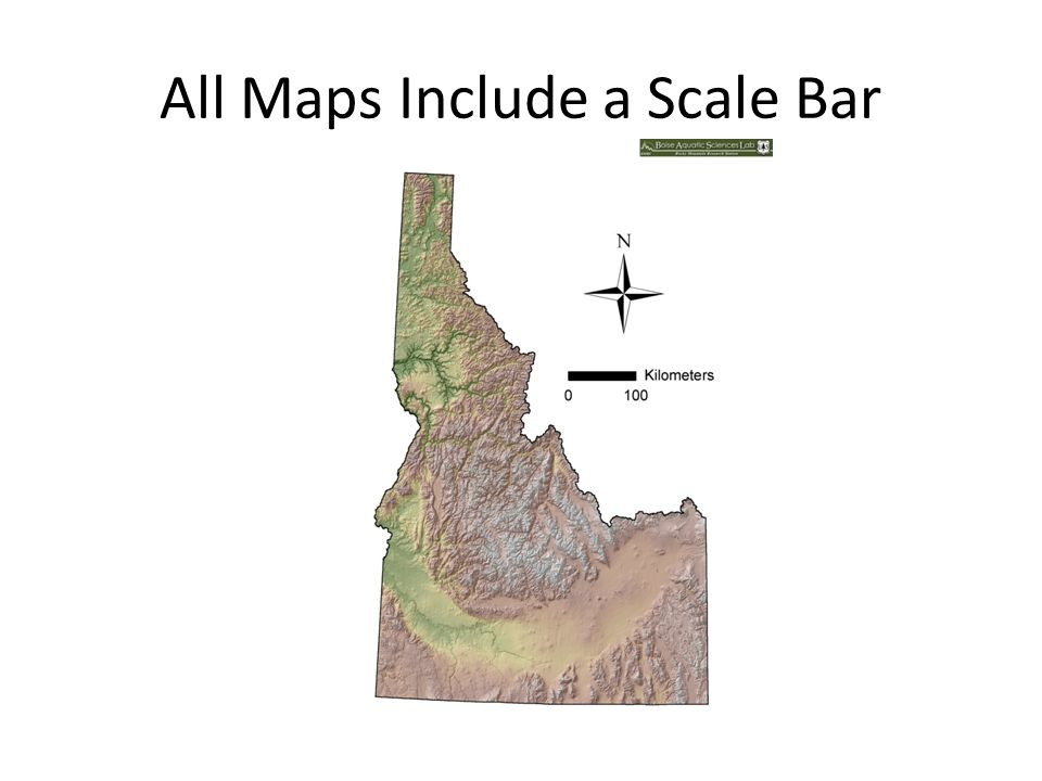 All Maps Include a Scale Bar