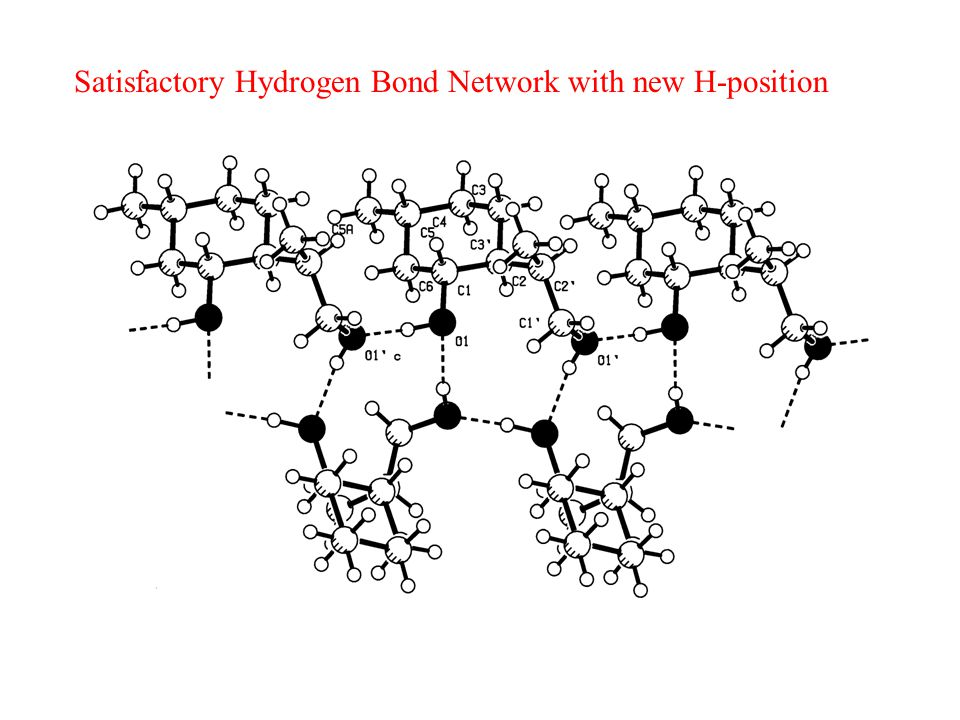 Satisfactory Hydrogen Bond Network with new H-position
