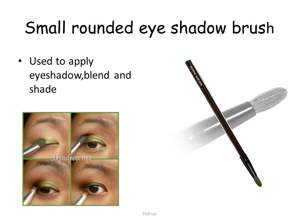 Small rounded eye shadow brush