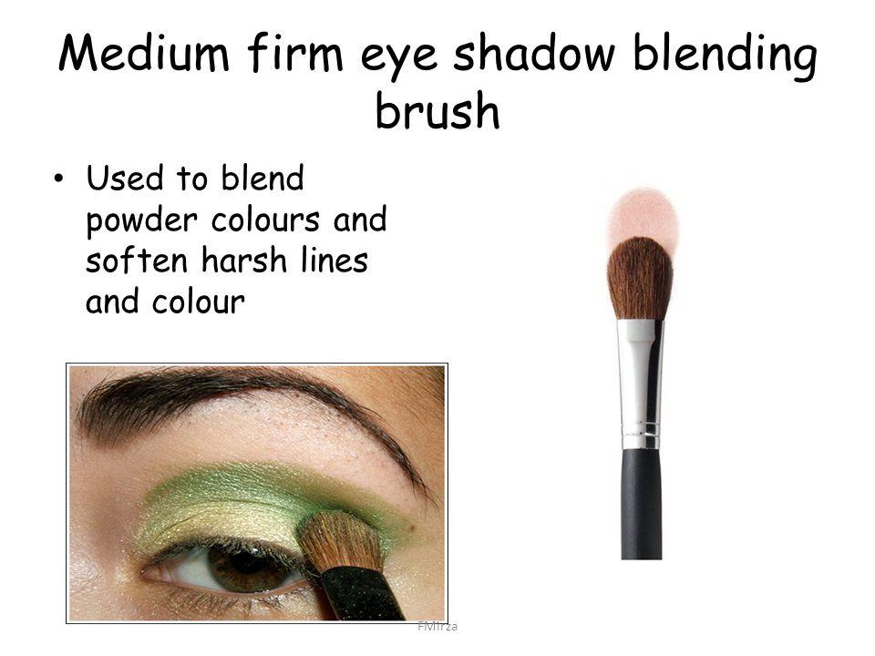 Medium firm eye shadow blending brush