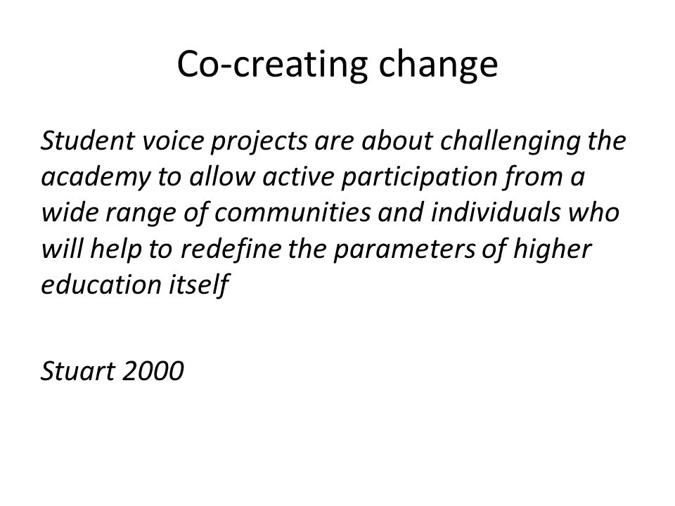 Co-creating change