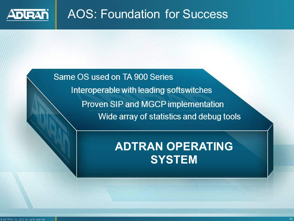 AOS: Foundation for Success