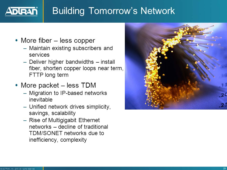 Building Tomorrow's Network