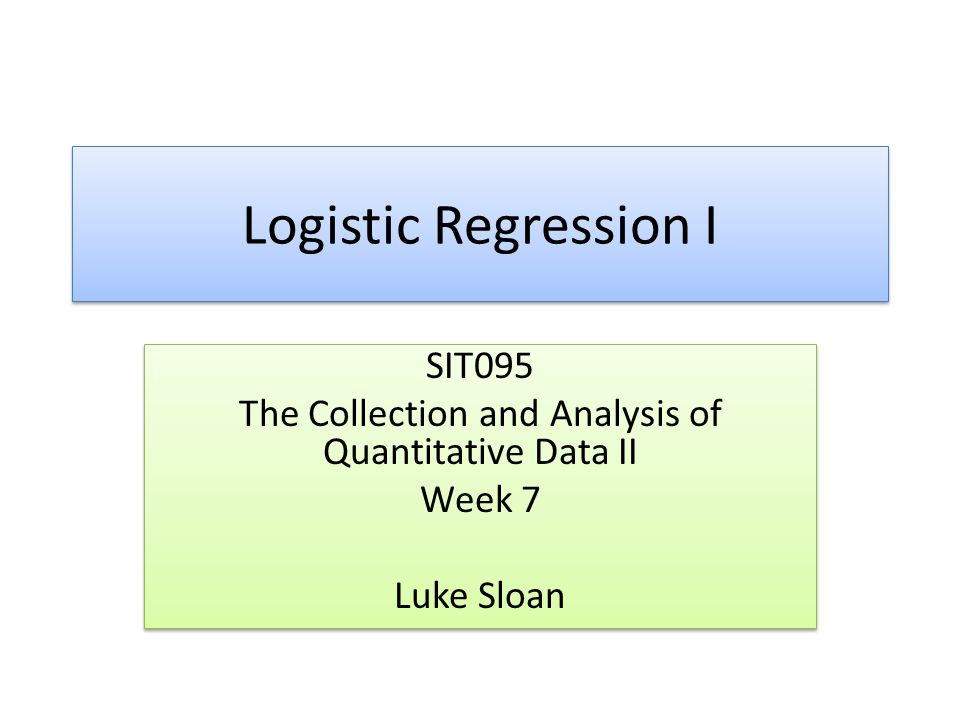 The Collection and Analysis of Quantitative Data II