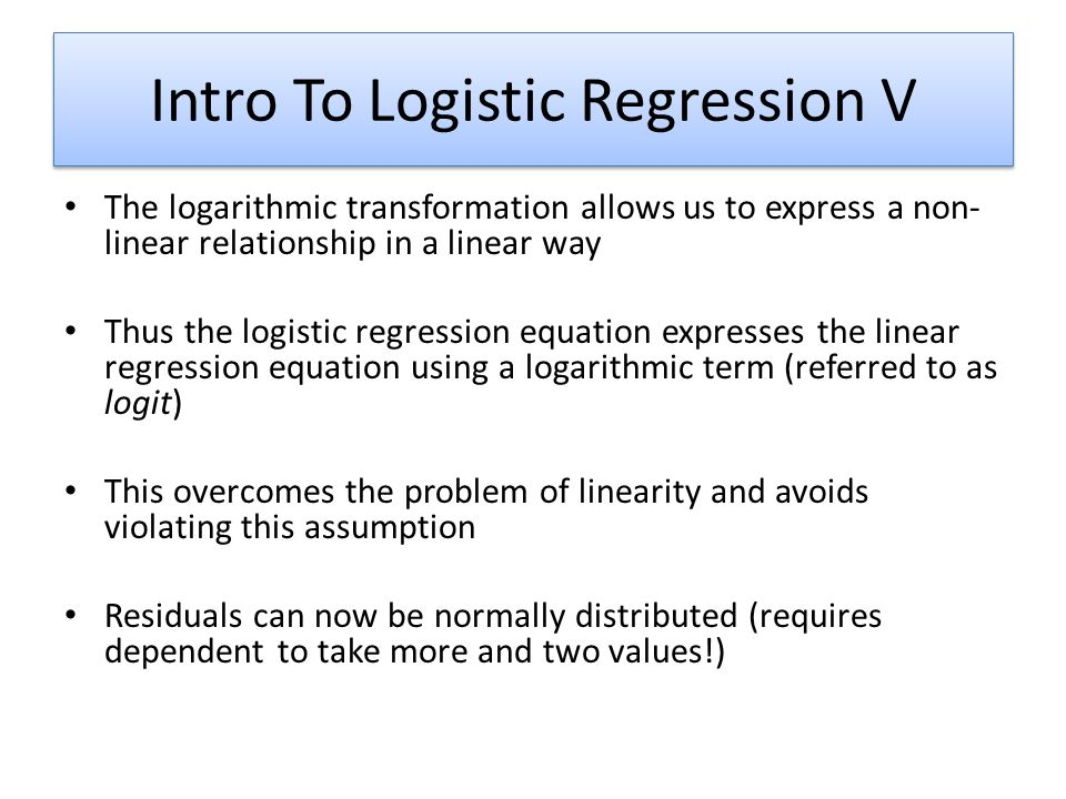 Intro To Logistic Regression V
