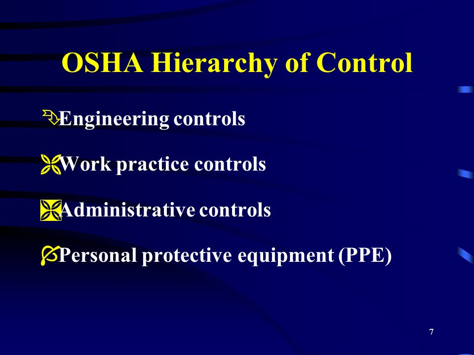 OSHA Hierarchy of Control