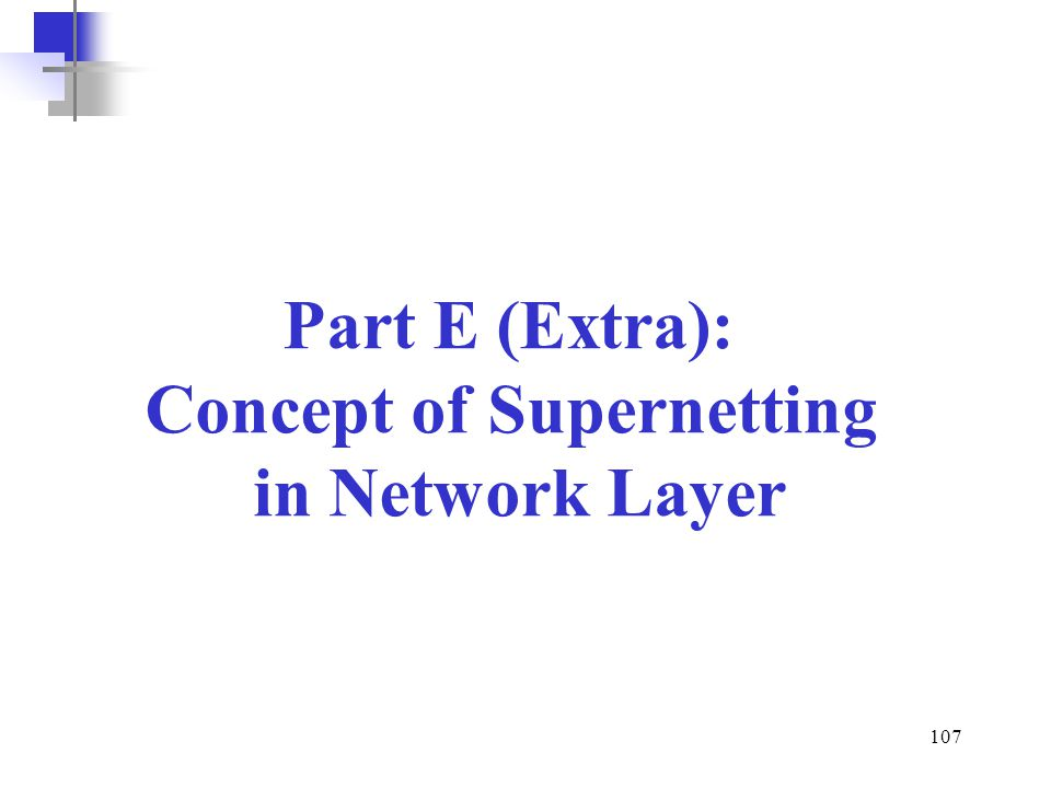 Concept of Supernetting