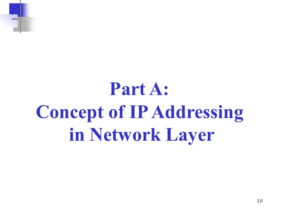 Concept of IP Addressing