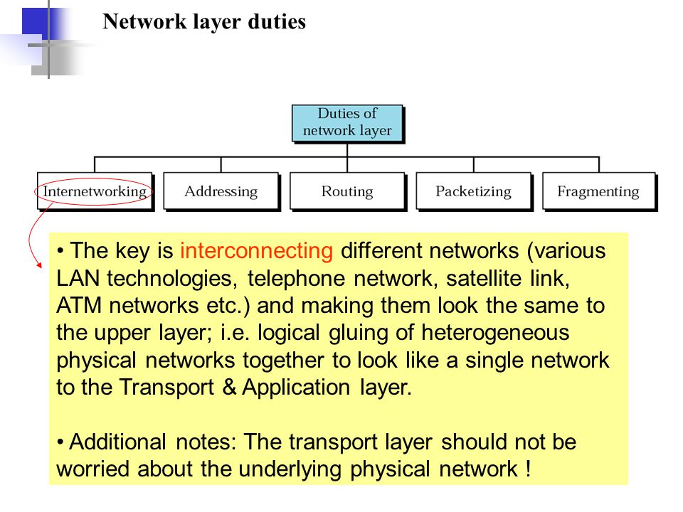 Network layer duties