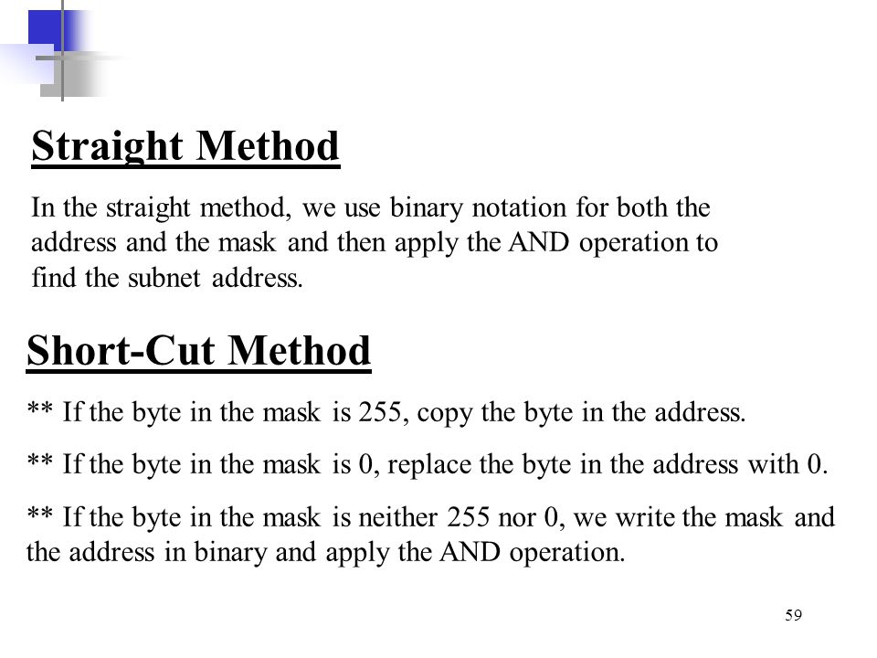 Straight Method Short-Cut Method