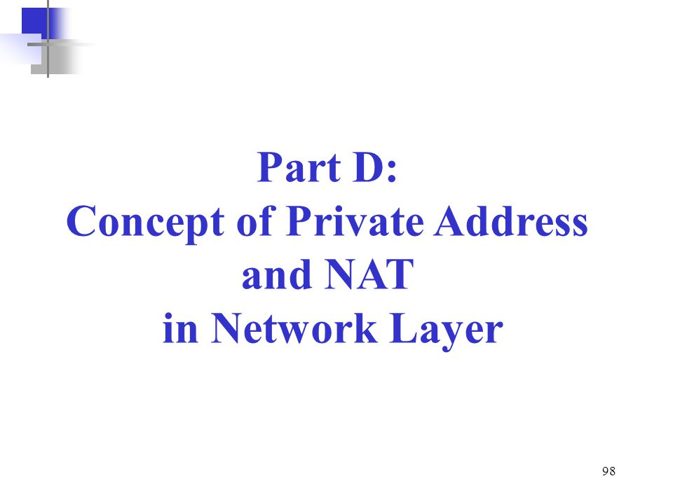 Concept of Private Address