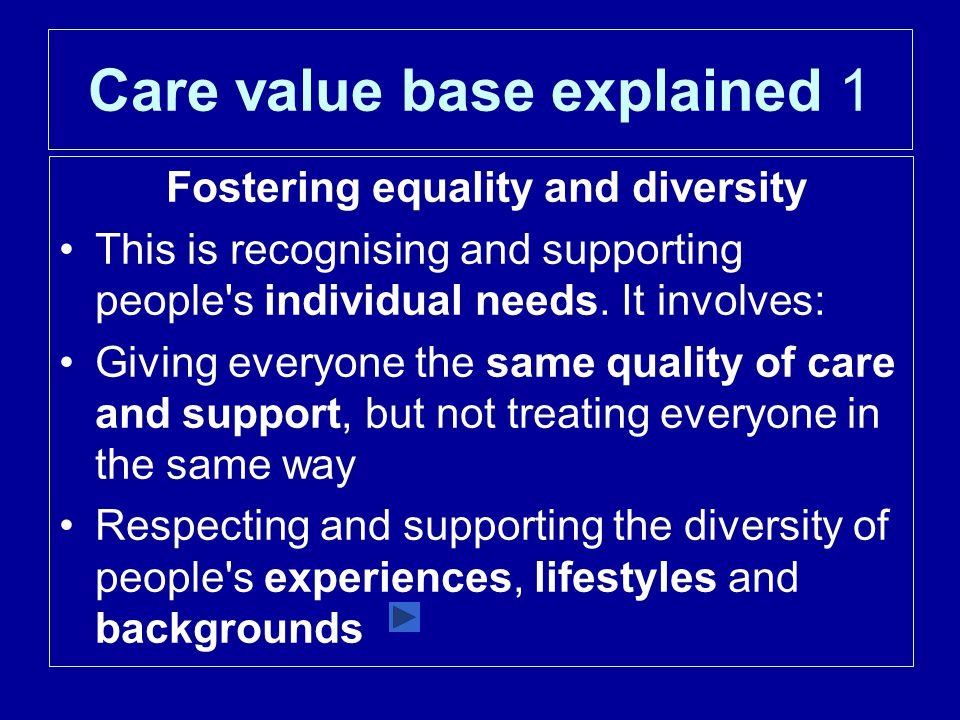 Care value base explained 1