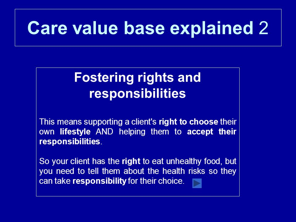 Care value base explained 2