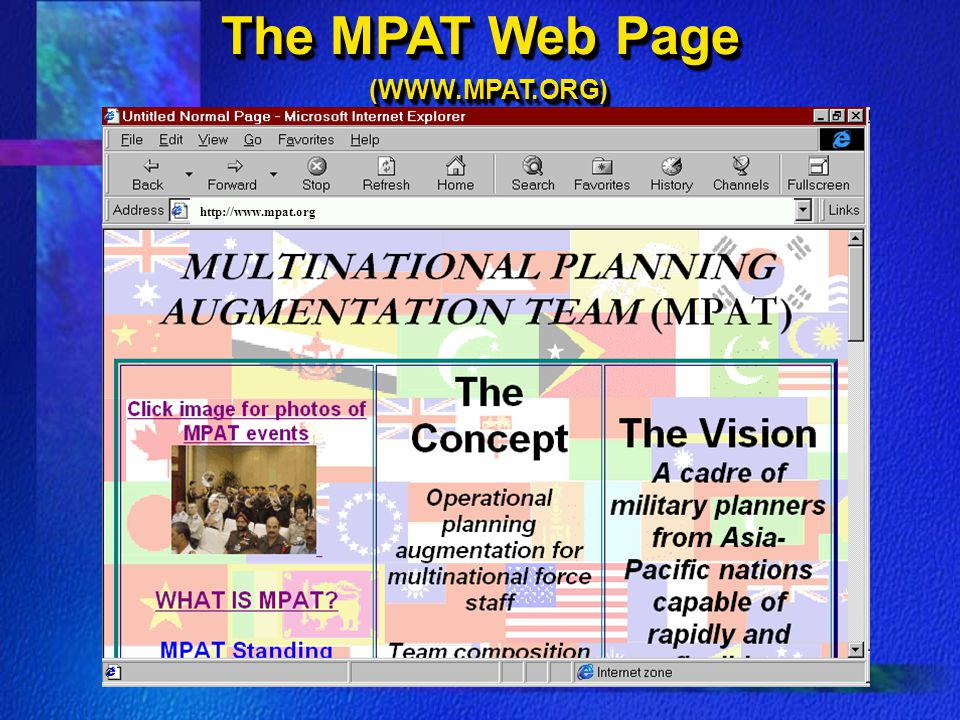 The MPAT Web Page (WWW.MPAT.ORG)