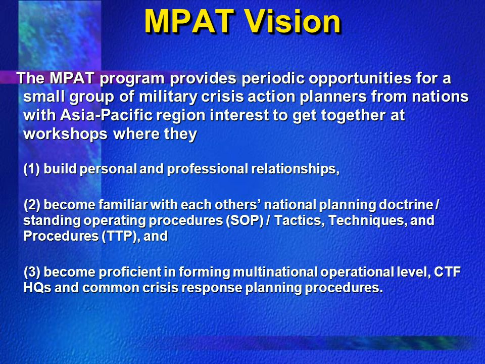 MPAT Vision