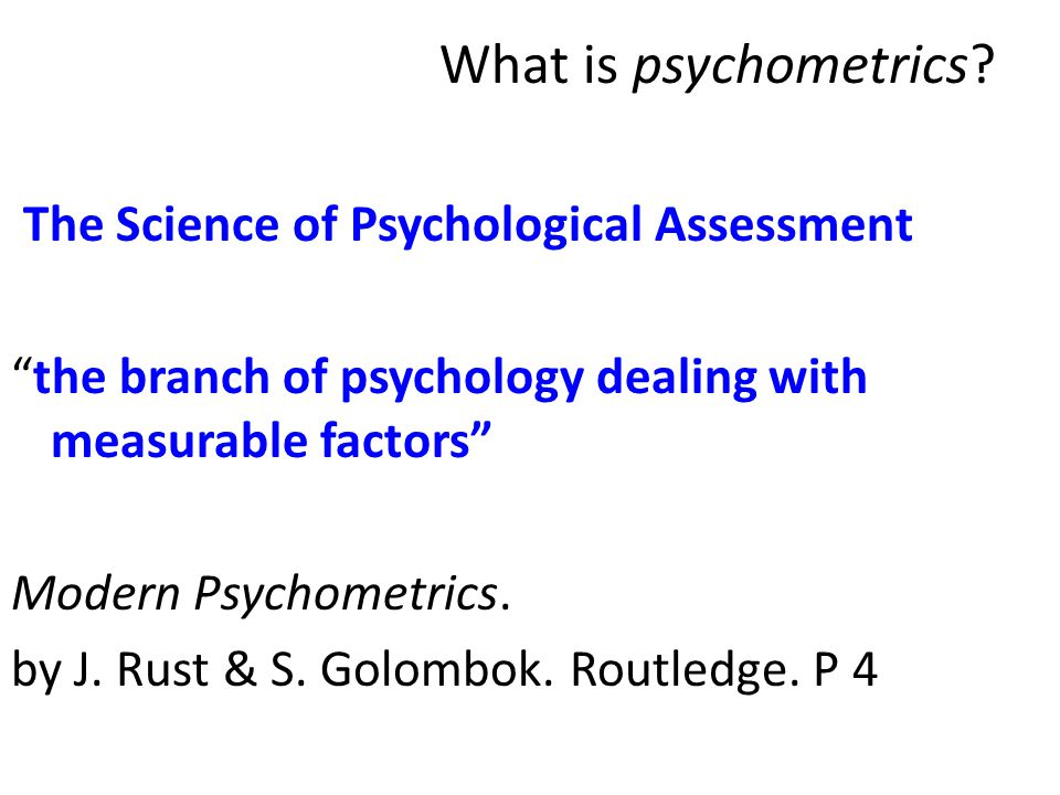 What is psychometrics
