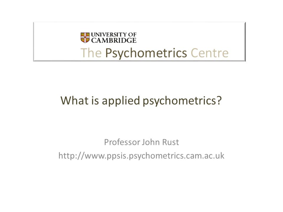 What is applied psychometrics