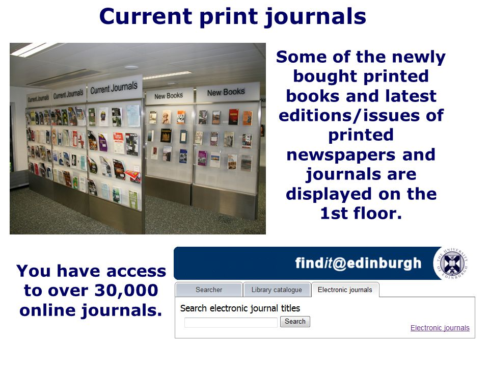 Current print journals