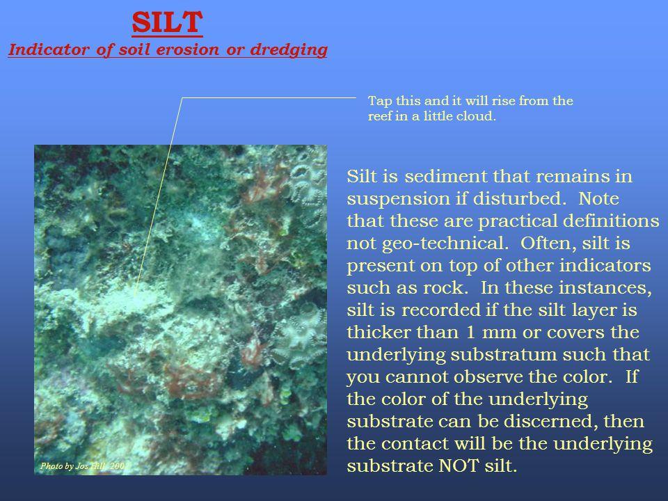 Indicator of soil erosion or dredging