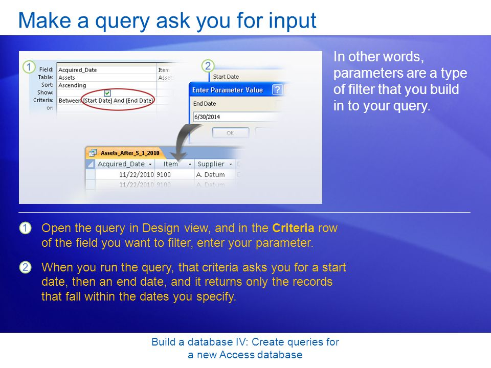 Make a query ask you for input