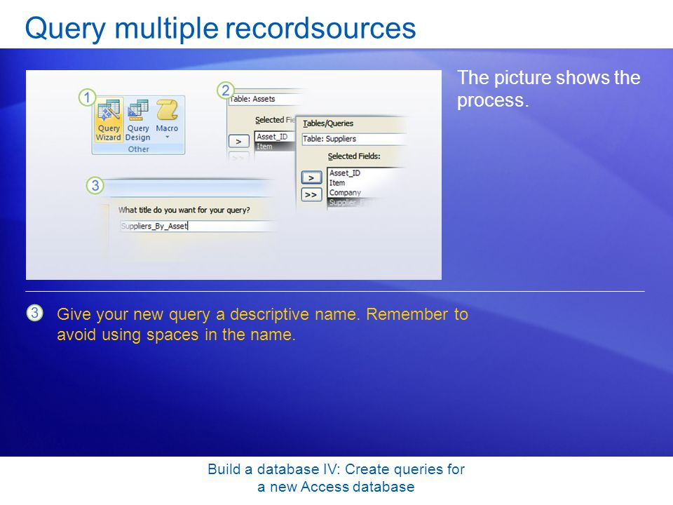 Query multiple recordsources