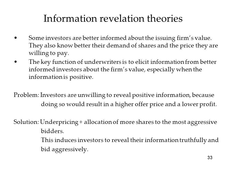 Information revelation theories