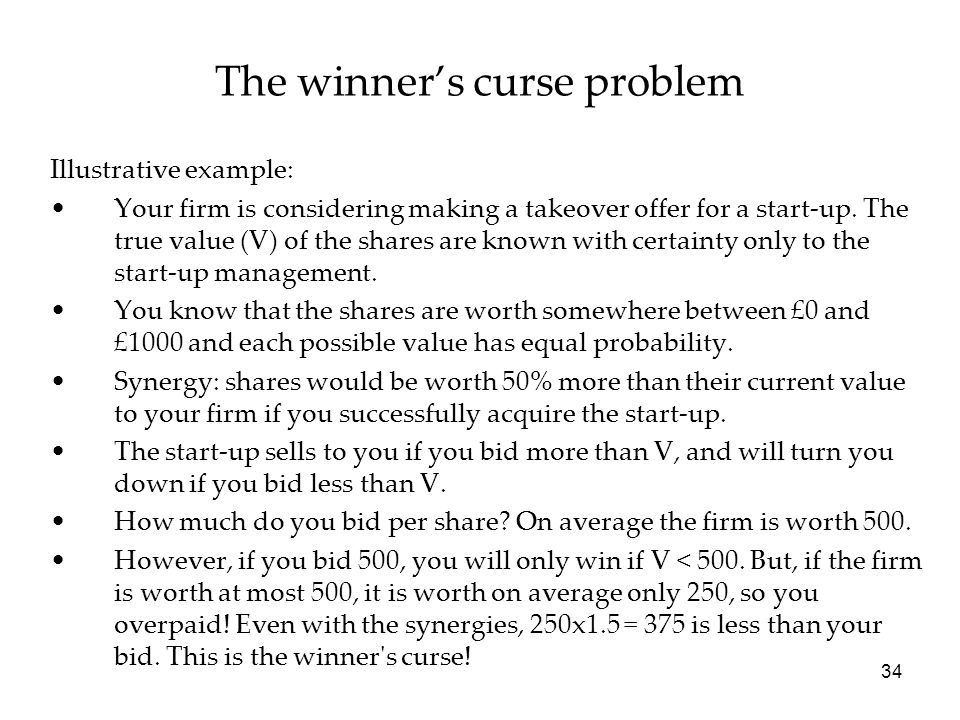 The winner's curse problem